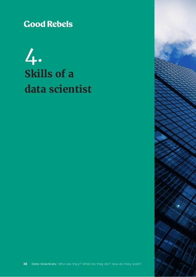 38 Data Scientists: Who are they? What do they do? How do they work? 4. Skills of a data scientist