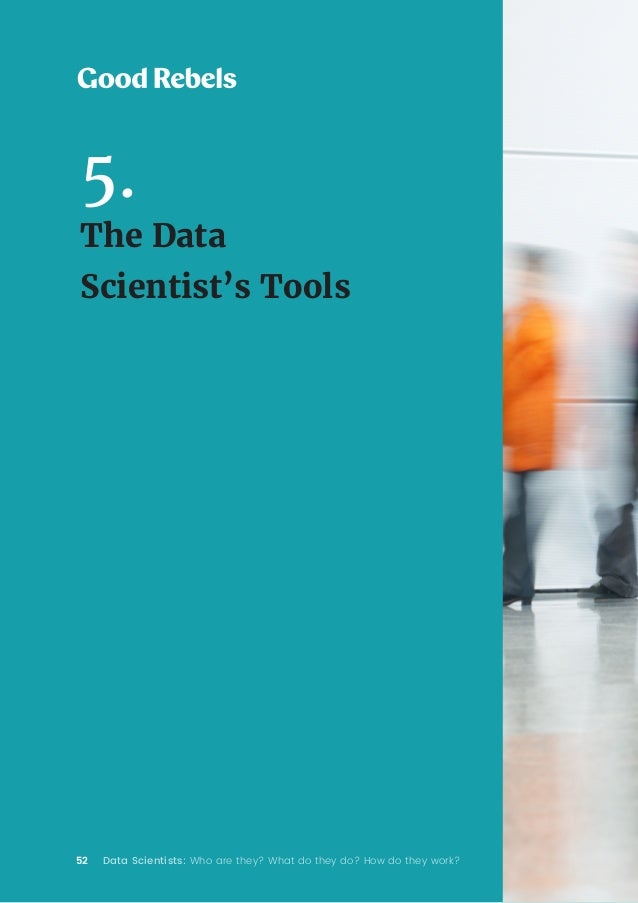 52 Data Scientists: Who are they? What do they do? How do they work? 5. The Data Scientist's Tools