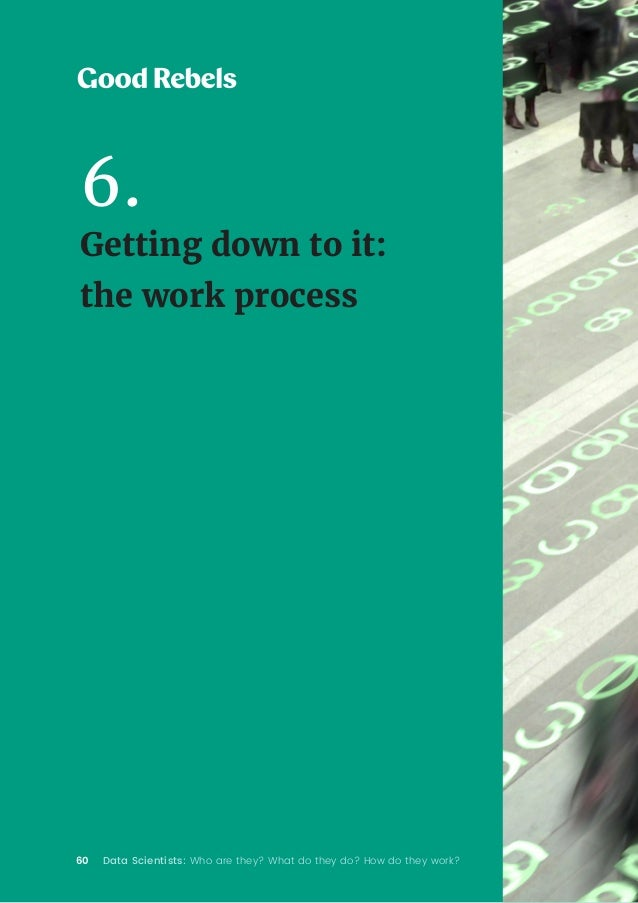 60 Data Scientists: Who are they? What do they do? How do they work? 6. Getting down to it: the work process