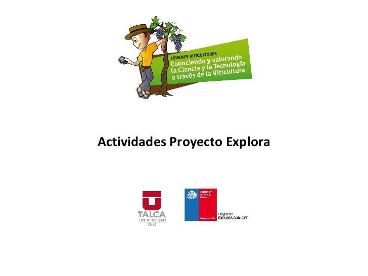 Actividades Proyecto Explora