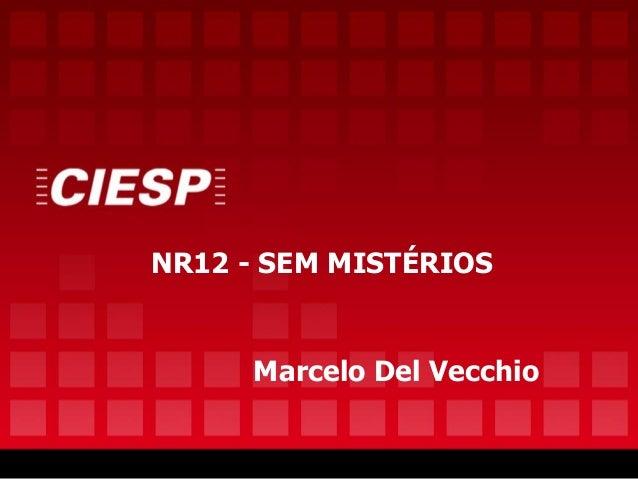 NR12 - SEM MISTÉRIOS Marcelo Del Vecchio