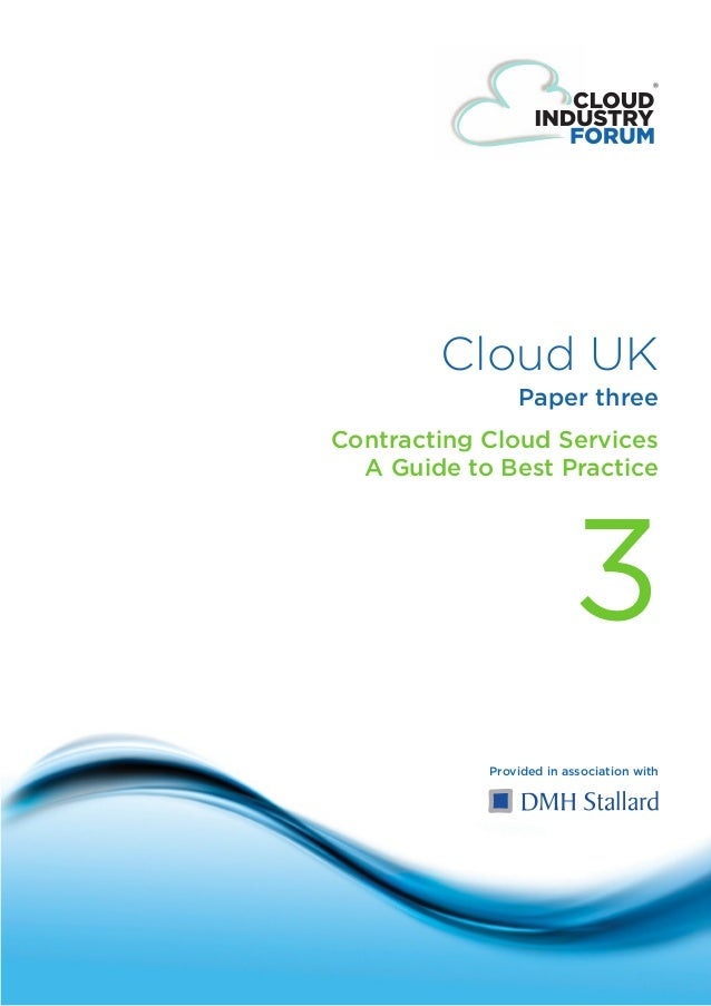 Cloud UK                                            Paper three                            Contracting Cloud Services     ...