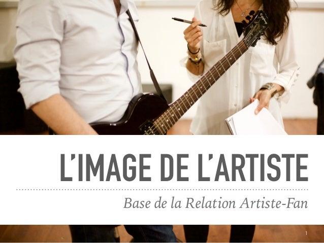 L'IMAGE DE L'ARTISTE Base de la Relation Artiste-Fan 1