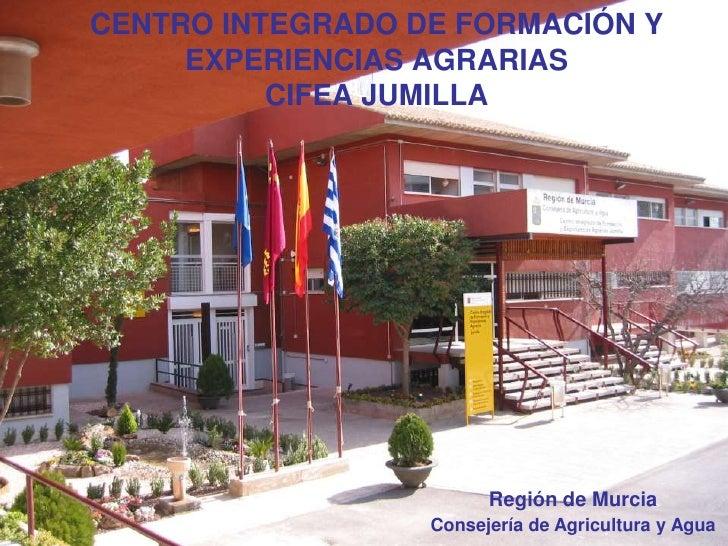 CENTRO INTEGRADO DE FORMACIÓN Y     EXPERIENCIAS AGRARIAS          CIFEA JUMILLA                        Región de Murcia  ...