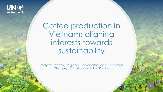FINANCING SUSTAINABLE LAND USE FOR PEOPLE AND PLANET Coffee production in Vietnam: aligning interests towards sustainabili...