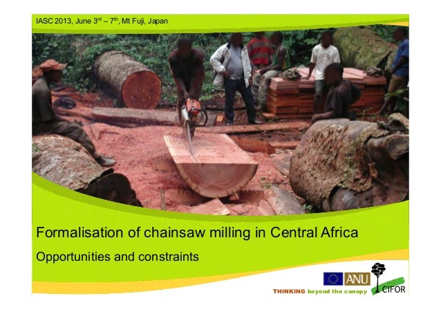 THINKING beyond the canopyTHINKING beyond the canopyFormalisation of chainsaw milling in Central AfricaOpportunities and c...
