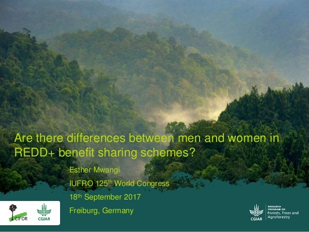 Esther Mwangi IUFRO 125th World Congress 18th September 2017 Freiburg, Germany Are there differences between men and women...