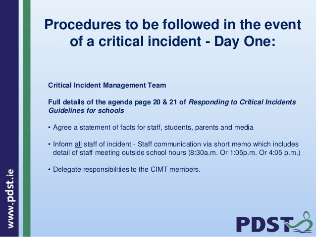 Critical Incident Plan