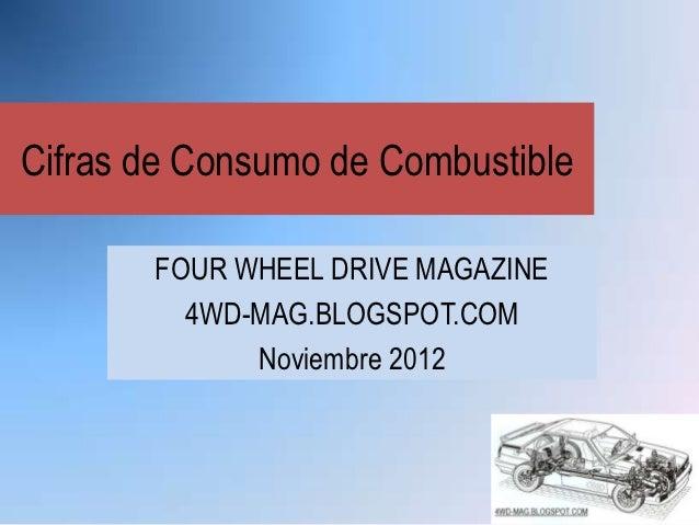 Cifras de Consumo de Combustible       FOUR WHEEL DRIVE MAGAZINE         4WD-MAG.BLOGSPOT.COM             Noviembre 2012