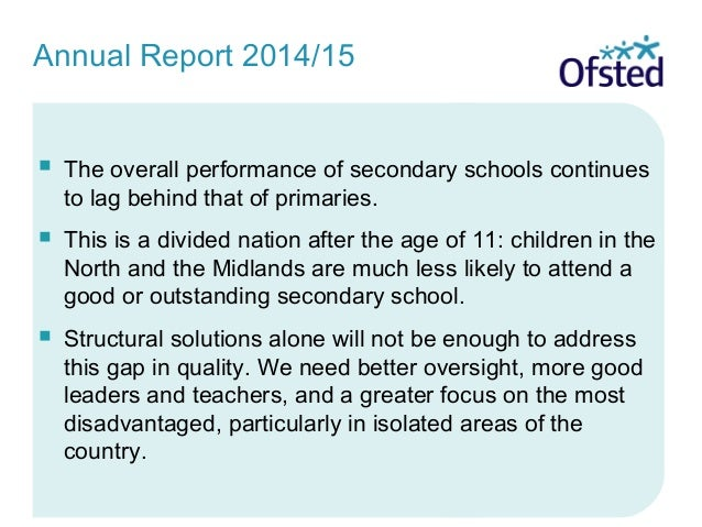  The overall performance of secondary schools continues to lag behind that of primaries.  This is a divided nation after...