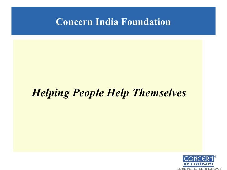 Concern India FoundationHelping People Help Themselves