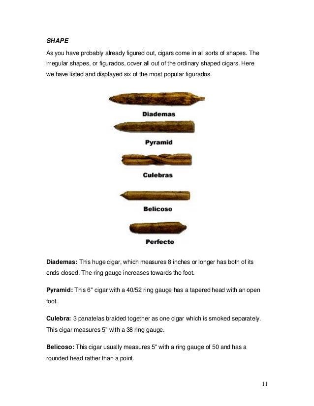 photograph relating to Cigar Ring Gauge Chart Printable identified as The Rookies Expert towards Cigar Cigarette smoking