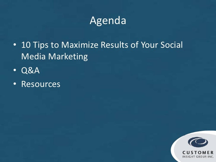 What Marketers Must Know to Maximize Social Media Results Slide 3