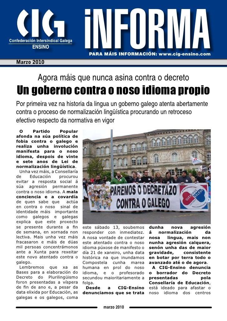 iNFORMA       confederación intersindical galega                                                                          ...