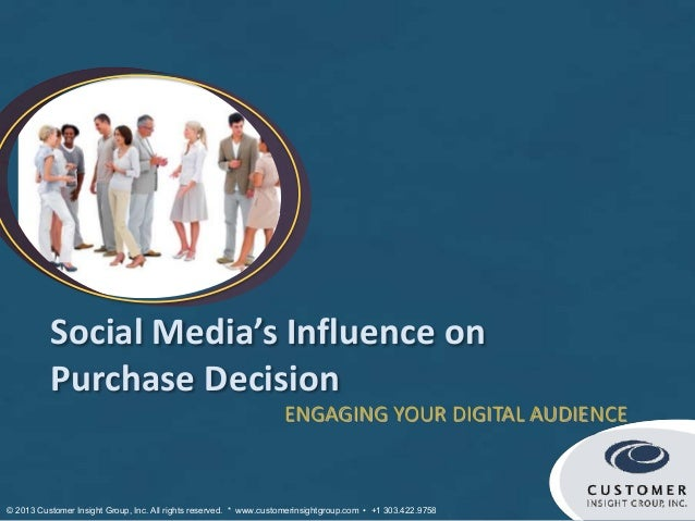 Social Media's Influence on          Purchase Decision                                                                   E...