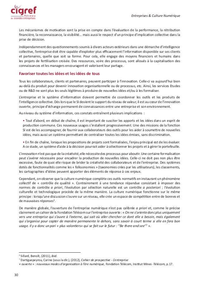 Livre blanc cigref entreprise et culture numerique for Idees entreprise lucrative