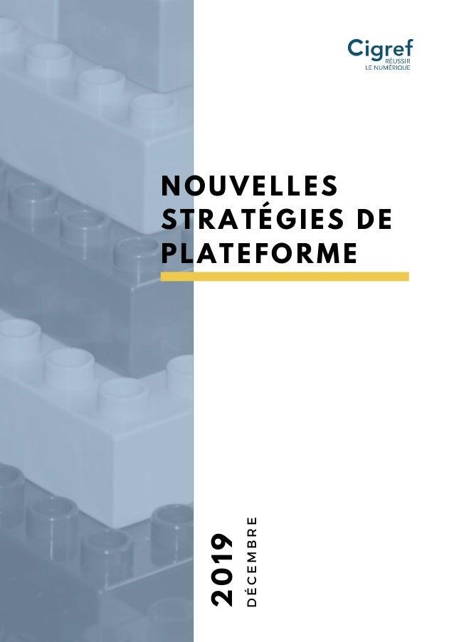 NOUVELLES STRATÉGIES DE PLATEFORME 2019 DÉCEMBRE