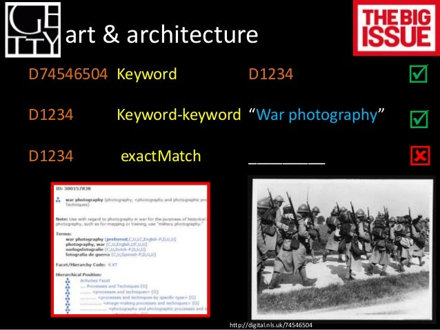 LoC Getty Name Authority File  go  Subject Authority File  go  Thesaurus for Graphic Materials  go  Thesaurus of Geographi...