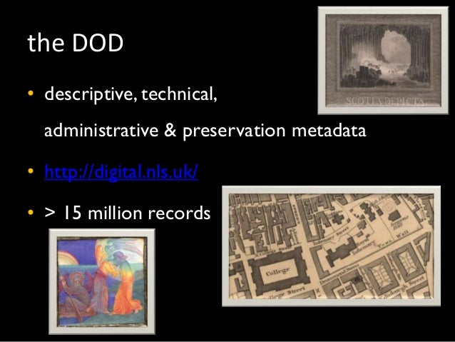 Cataloguing in the DOD