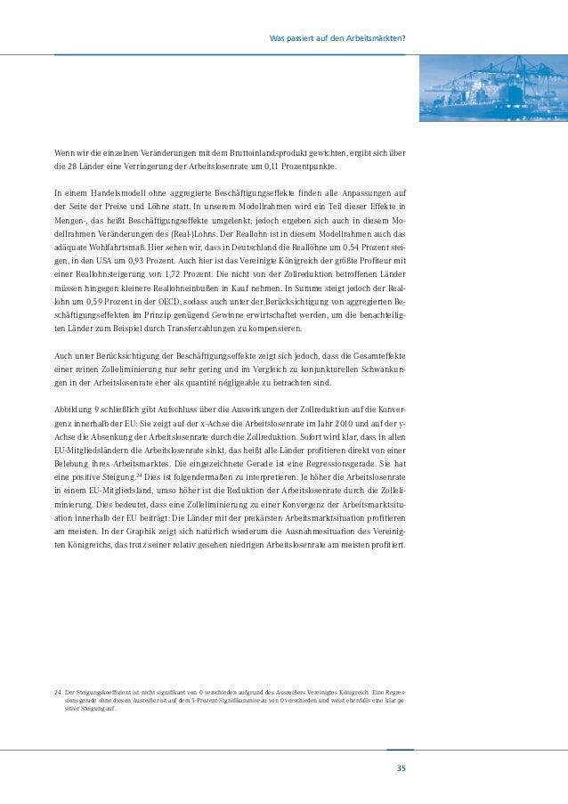 36 Was passiert auf den Arbeitsmärkten? Tabelle 9:Veränderung der Beschäftigung, der Arbeitslosenrate und des Reallohns, Z...