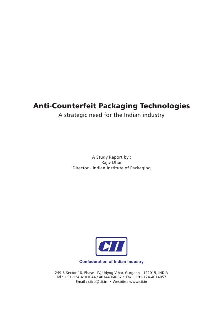 anti-counterfeit packaging a global strategic business report