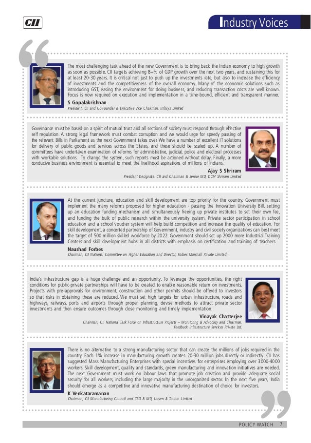 7policy watch Industry Voices At the current juncture, education and skill development are top priority for the country. G...