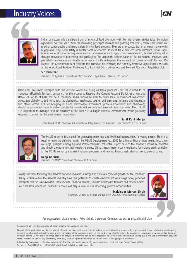 8 policy watch Industry Voices The MSME sector is best-suited for generating more jobs and livelihood opportunities for yo...