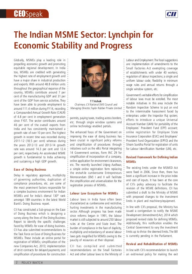 CII Policy Watch - MSME Slide 2
