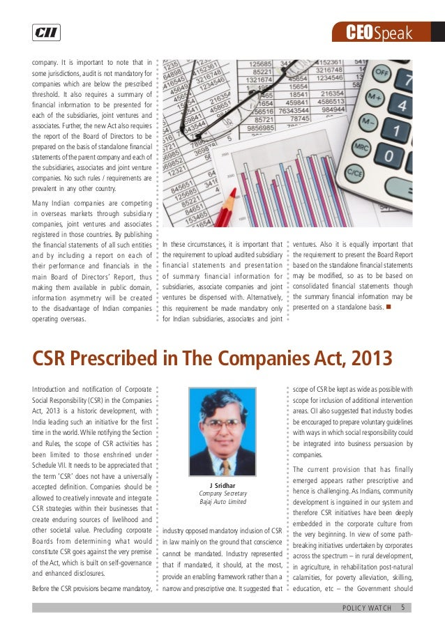 5policy watch CEOSpeak company. It is important to note that in some jurisdictions, audit is not mandatory for companies w...
