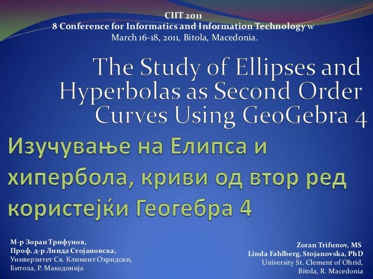 CIIT 2011           8 Conference for Informatics and Information Technology w                        March 16-18, 2011, Bi...