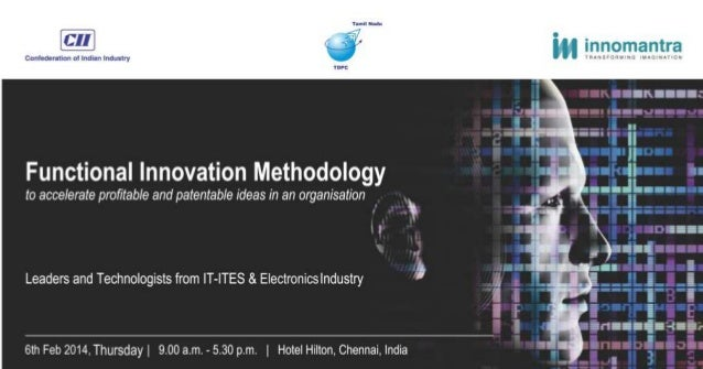 CII-TNTDPC Functional Innovation Methdology for Leaders in IT,ITES & Electronics Industry 2014