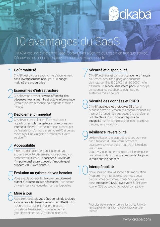 1 2 3 4 5 6 7 8 9 10 www.cikaba.com Coûtmaîtrisé CIKABAestproposésousformed'abonnement sansinvestissementinitial,pourunbud...