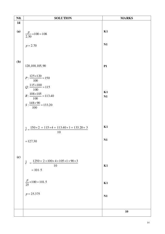 Kertas Percubaan Matematik Tambahan Kedah Skema K2