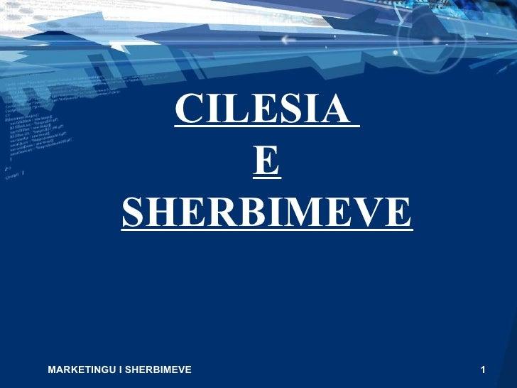 CILESIA  E SHERBIMEVE MARKETINGU I SHERBIMEVE