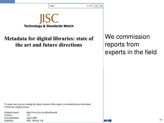We commission reports from experts in the field 11PDF