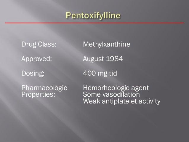 Pentoxifylline Drug Classification