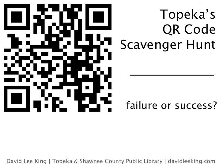Topeka's                                              QR Code                                        Scavenger Hunt       ...