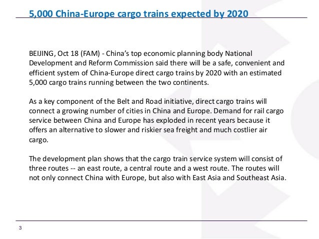 The Railway Challenges of the New Silk Road