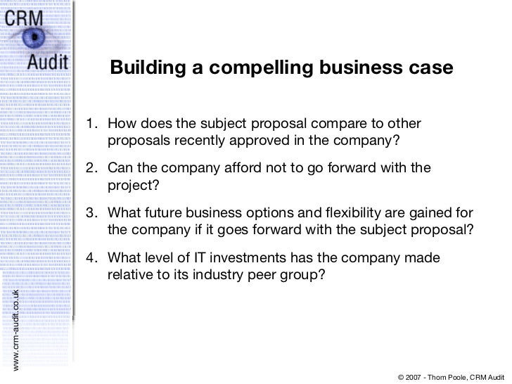 The business case for crm project approval requirement 18 building a compelling business case wajeb Image collections