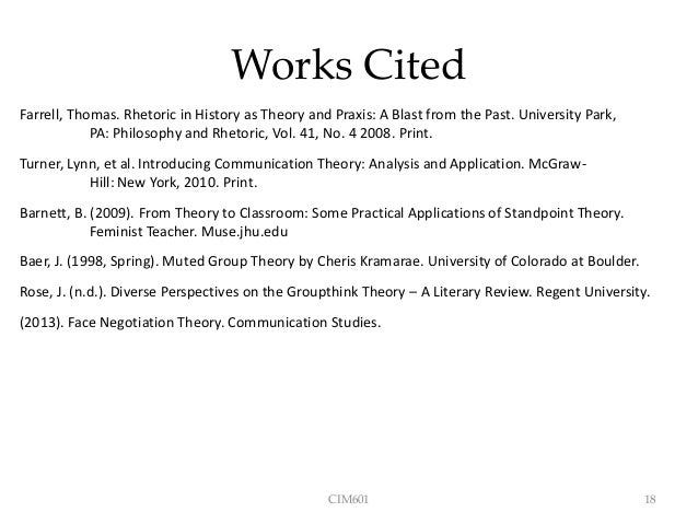 feminist standpoint theory and muted group theory pdf