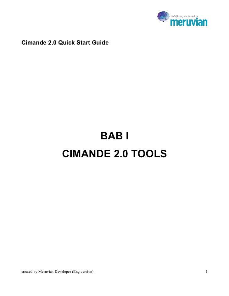 Cimande 2.0 Quick Start Guide                                              BAB I                        CIMANDE 2.0 TOOLSc...