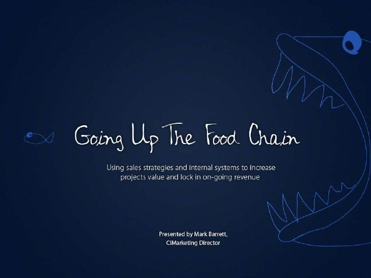 Going up the food chain - Mark Barrett