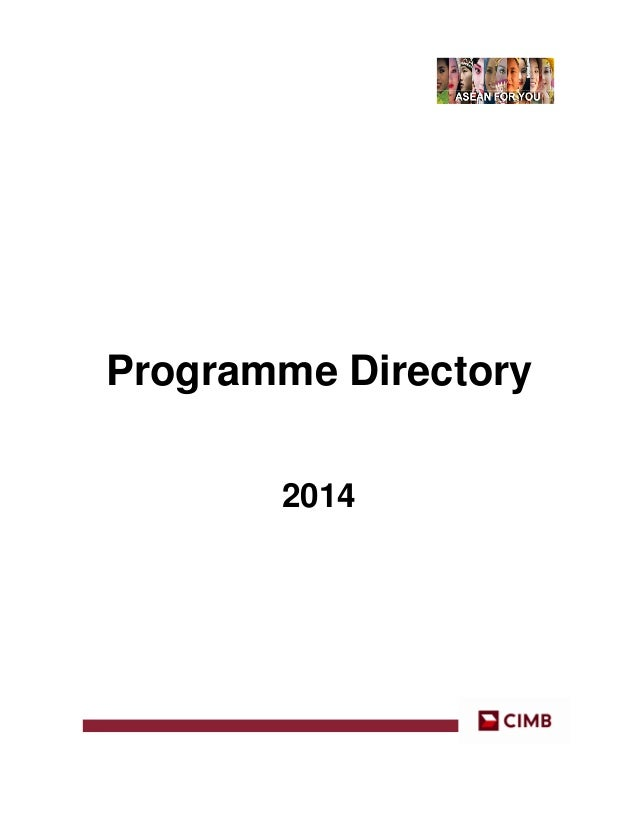 Programme Directory 2014