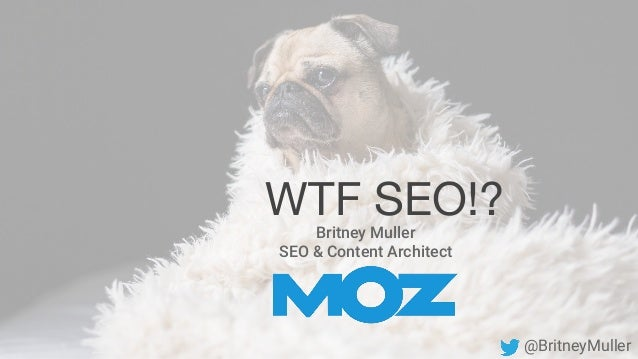 Britney Muller SEO & Content Architect WTF SEO!? @BritneyMuller