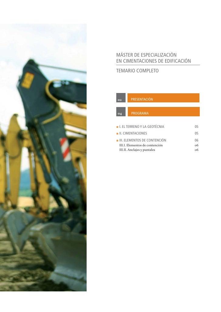 Máster de Especialización en Cimentaciones de Edificación Slide 3