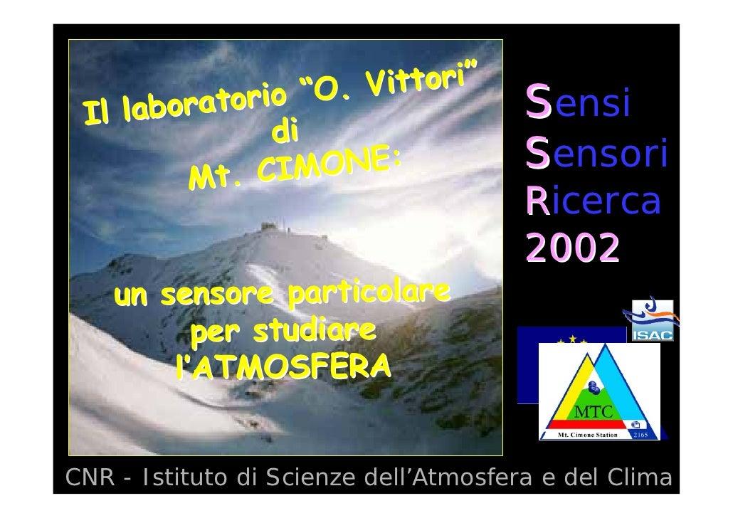 """i""""                     Vittori""""  Il laboratorio """"O.                    Sensi               di               IMONE:        ..."""