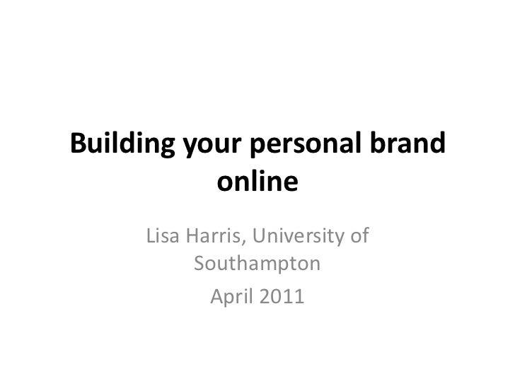 CIM Personal Branding 2011 #CIMbrandyou