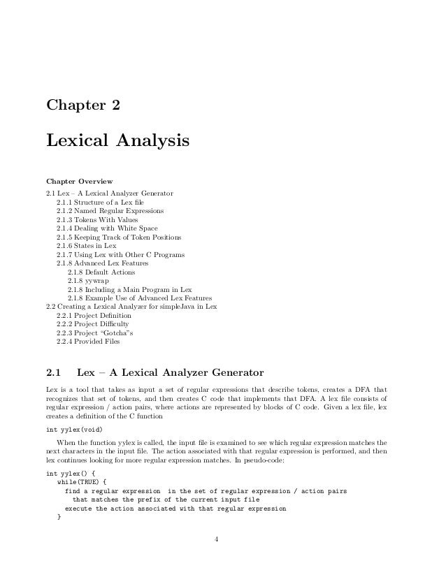 C code to implement Lexical Analyzer