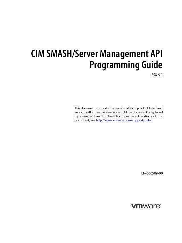 CIM SMASH/Server Management API              Programming Guide                                                            ...