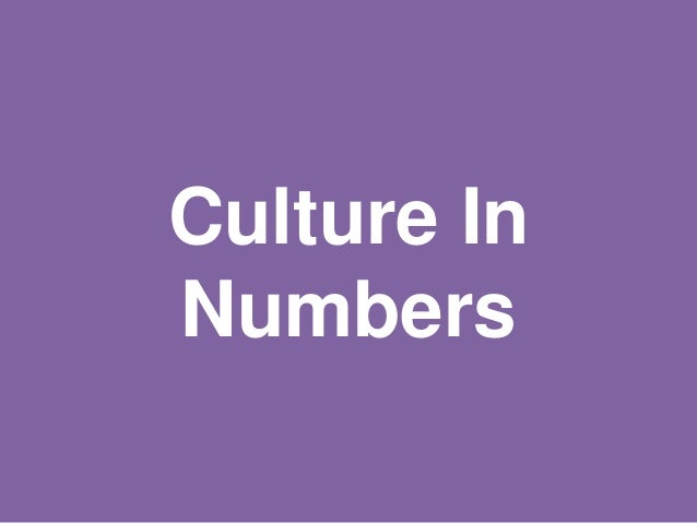 Culture In Numbers